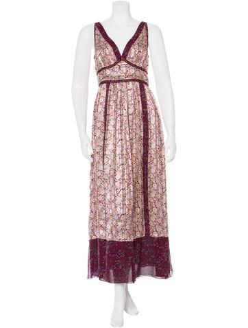Anna Sui Floral Print Maxi Dress None