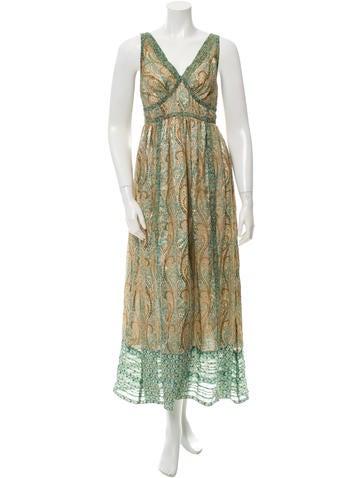 Anna Sui Sleeveless Maxi Dress None