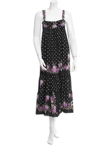 Anna Sui Silk Printed Dress None