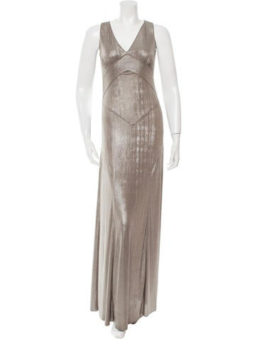 Anna Sui Metallic-Accented Maxi Dress None