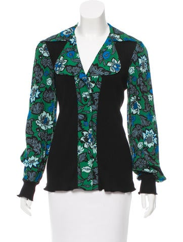 Anna Sui Floral Print Button-Up Top None