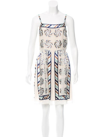 Anna Sui Silk Printed Dress w/ Tags
