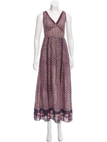 Anna Sui Printed Maxi Dress None