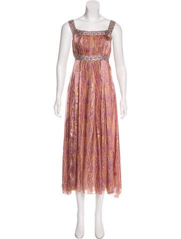 Anna Sui Paisley Print Maxi Dress None
