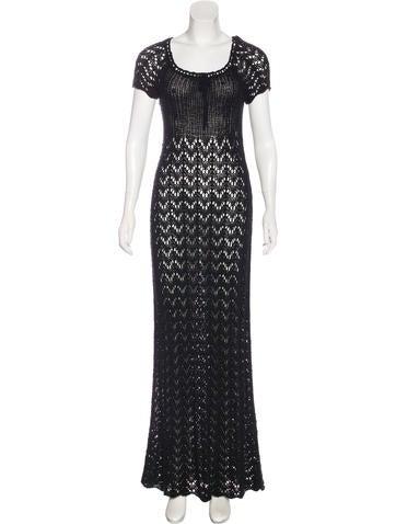 Anna Sui Open-Knit Maxi Dress None