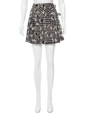 Anna Sui Patterned Mini Skirt Clothing ANA40 The RealReal Awesome Patterned Mini Skirt