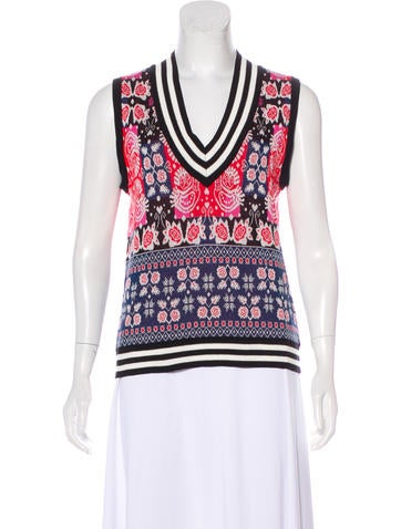 Anna Sui Sleeveless Knit Top None