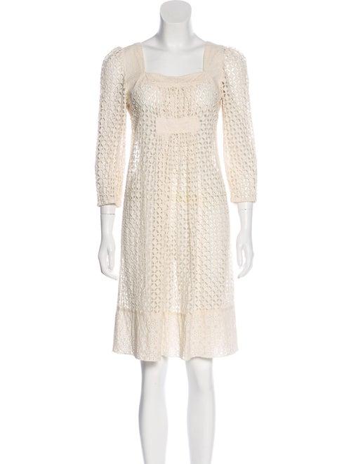Anna Sui Eyelet Shift Dress