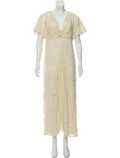 Anna Sui Crochet Maxi Dress