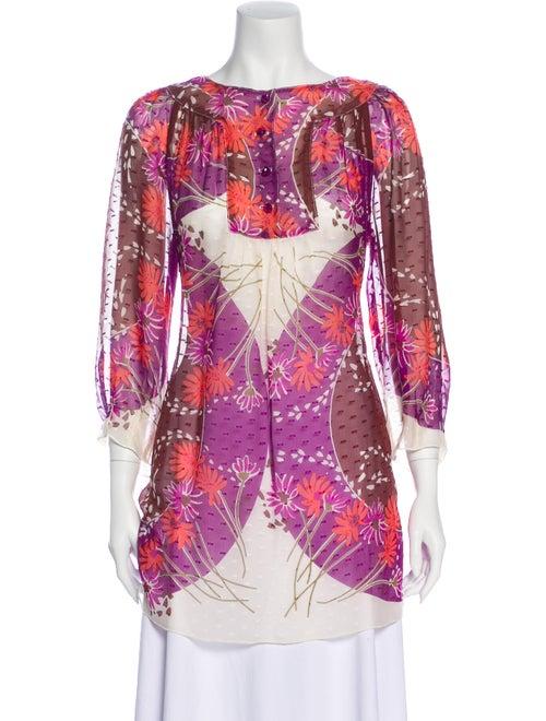 Anna Sui Silk Printed Tunic