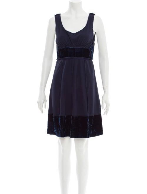 Anna Sui Scoop Neck Knee-Length Dress Blue