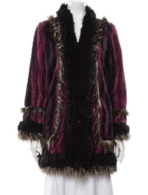 Anna Sui Faux Fur Coat Purple