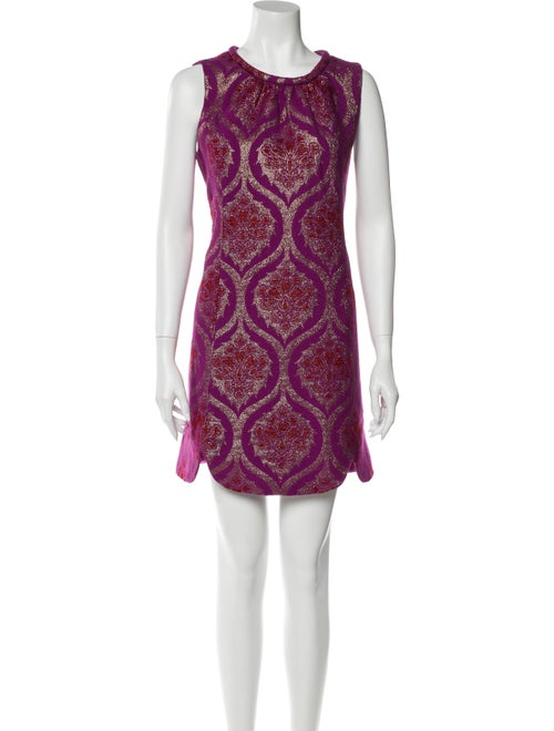 Anna Sui Printed Mini Dress Purple