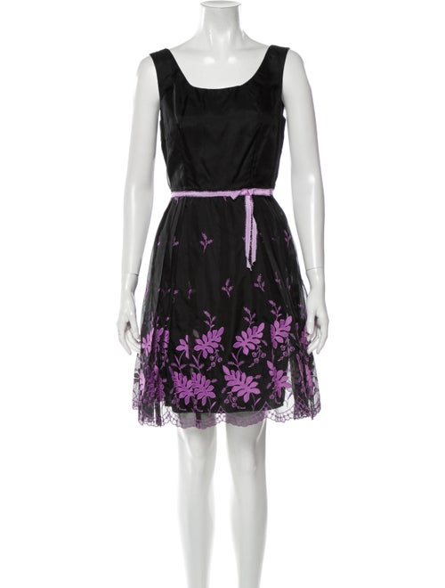 Anna Sui Silk Mini Dress Black