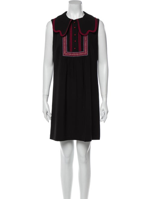 Anna Sui Mini Dress Black