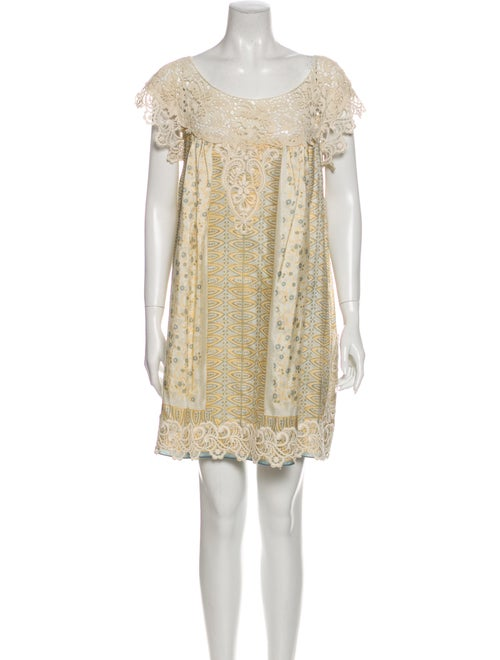 Anna Sui Silk Mini Dress