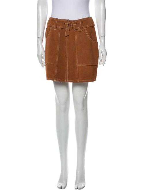 Anna Sui Suede Mini Skirt w/ Tags Orange