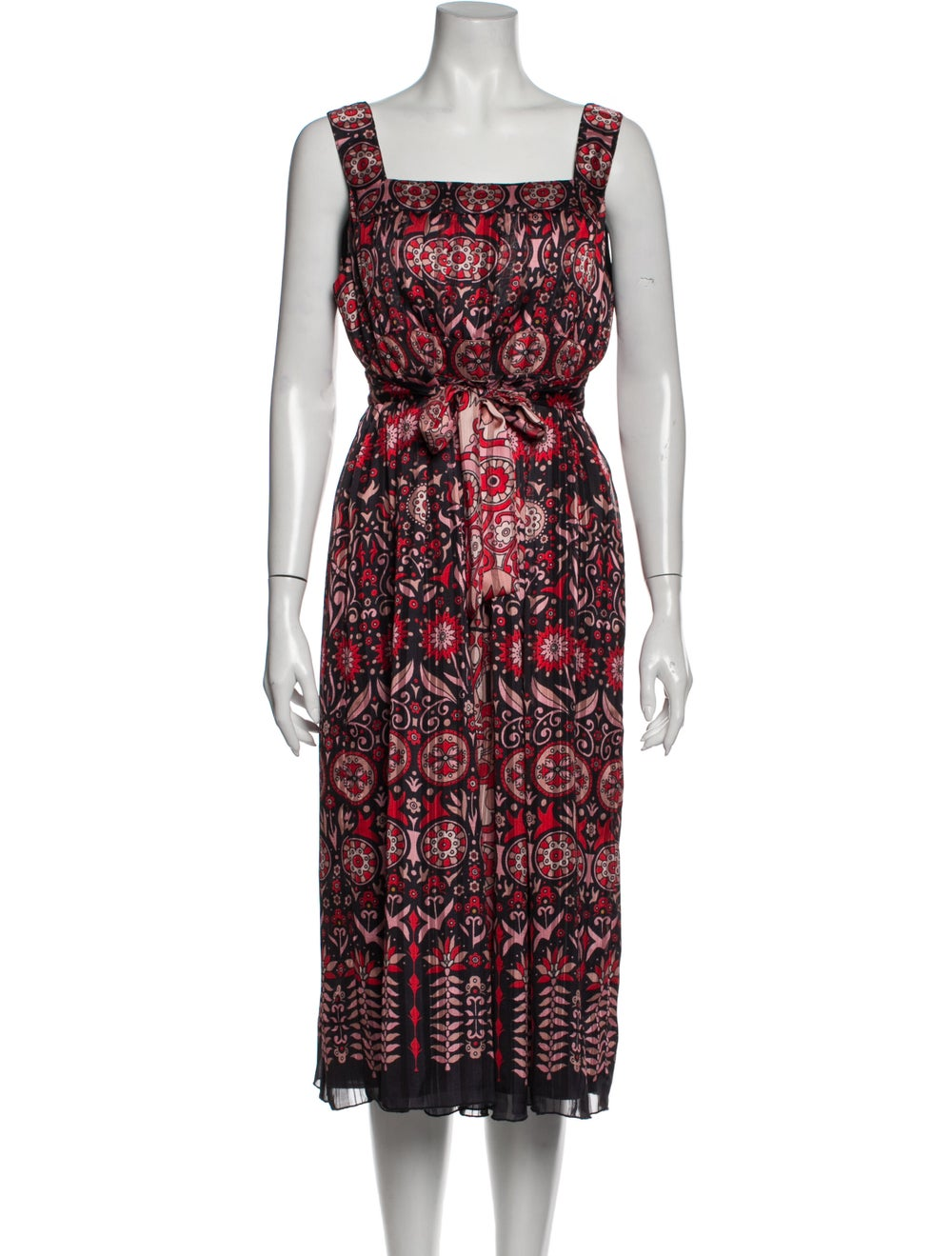 Anna Sui Vintage Midi Length Dress Red - image 1