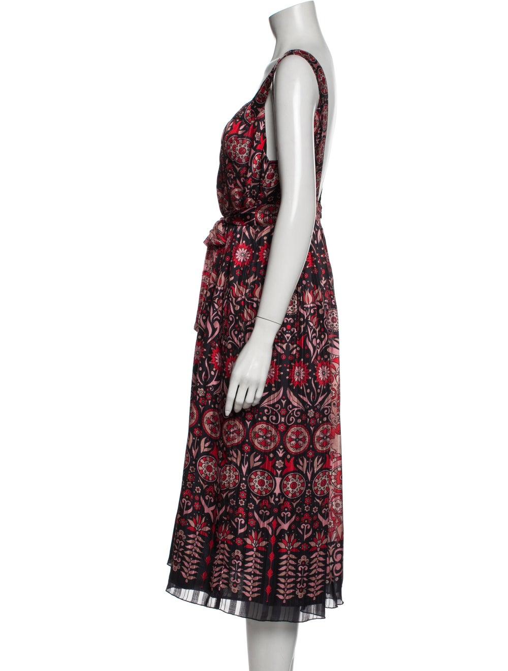 Anna Sui Vintage Midi Length Dress Red - image 2
