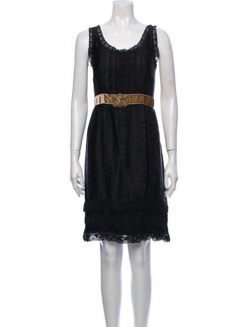Anna Sui Silk Knee-Length Dress Black