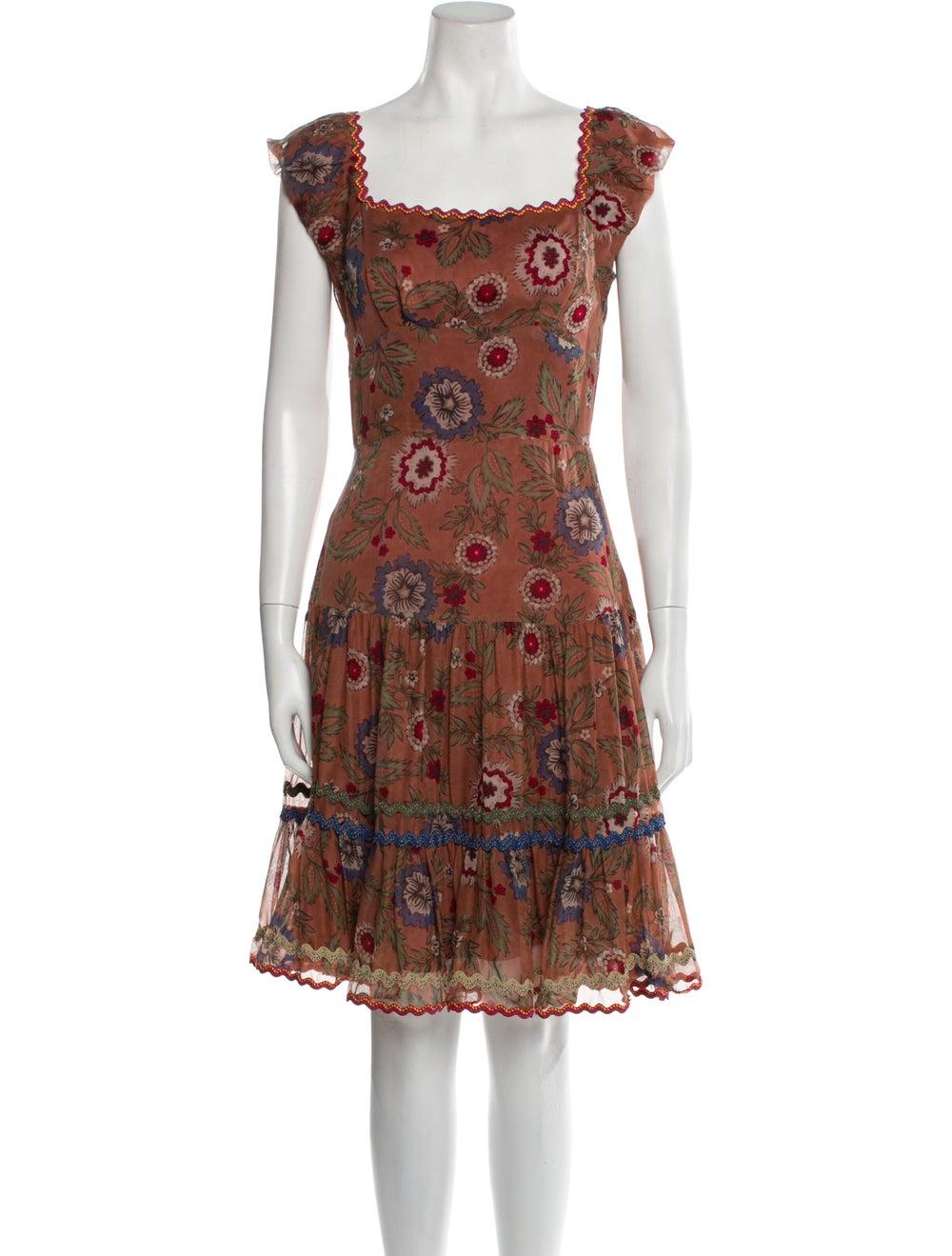 Anna Sui Silk Knee-Length Dress Pink - image 1