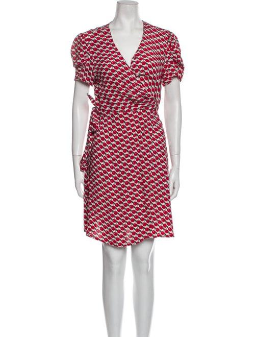 Anna Sui Printed Mini Dress Red