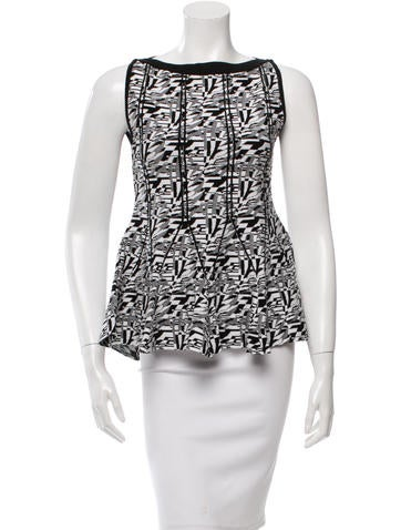 Antonio Berardi Patterned Peplum Top None