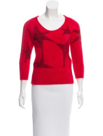 Antonio Berardi Star Print Angora Sweater None