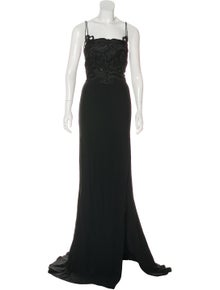 cc9e8cca036b79 Antonio Berardi. Lace-Accented Evening Dress