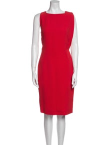 Antonio Berardi Bateau Neckline Knee-Length Dress