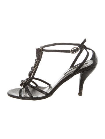 Andrew Gn Embossed Multistrap Sandals