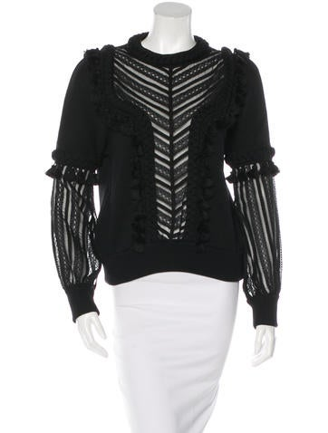 Andrew Gn Braided Tassel Sweater w/ Tags