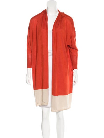 Andrew Gn Cashmere & Silk-Blend Open Front Cardigan None