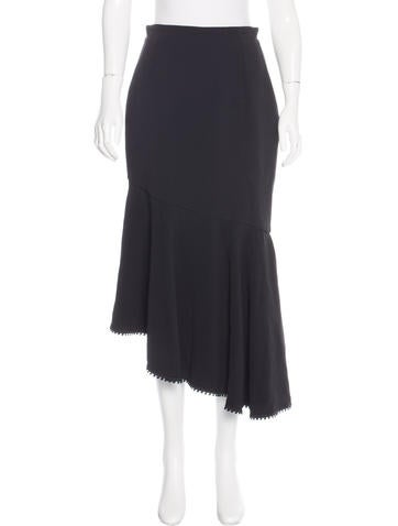 Andrew Gn Asymmetrical Midi Skirt None