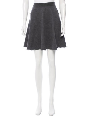 Andrew Gn Wool Knee-Length Skirt w/ Tags None
