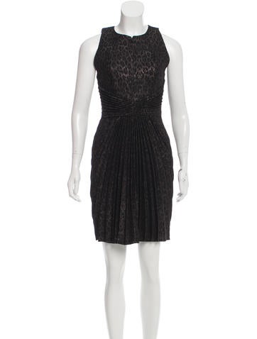 Andrew Gn Leopard Metallic-Accented Knit Dress None