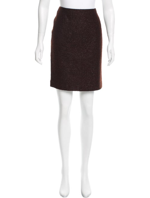 Andrew Gn Metallic Tweed Skirt Metallic