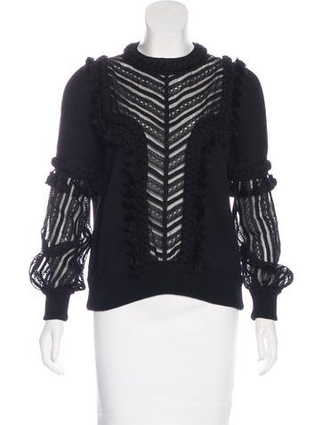 Andrew Gn 2016 Lace-Accented Top None