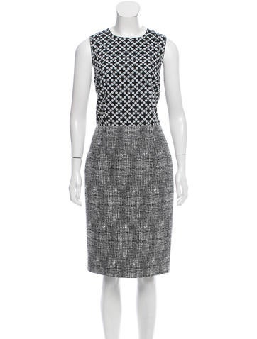 Andrew Gn Abstract Print Tweed Dress None