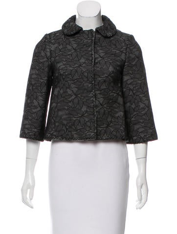 Andrew Gn Lace-Accented Cropped Jacket None