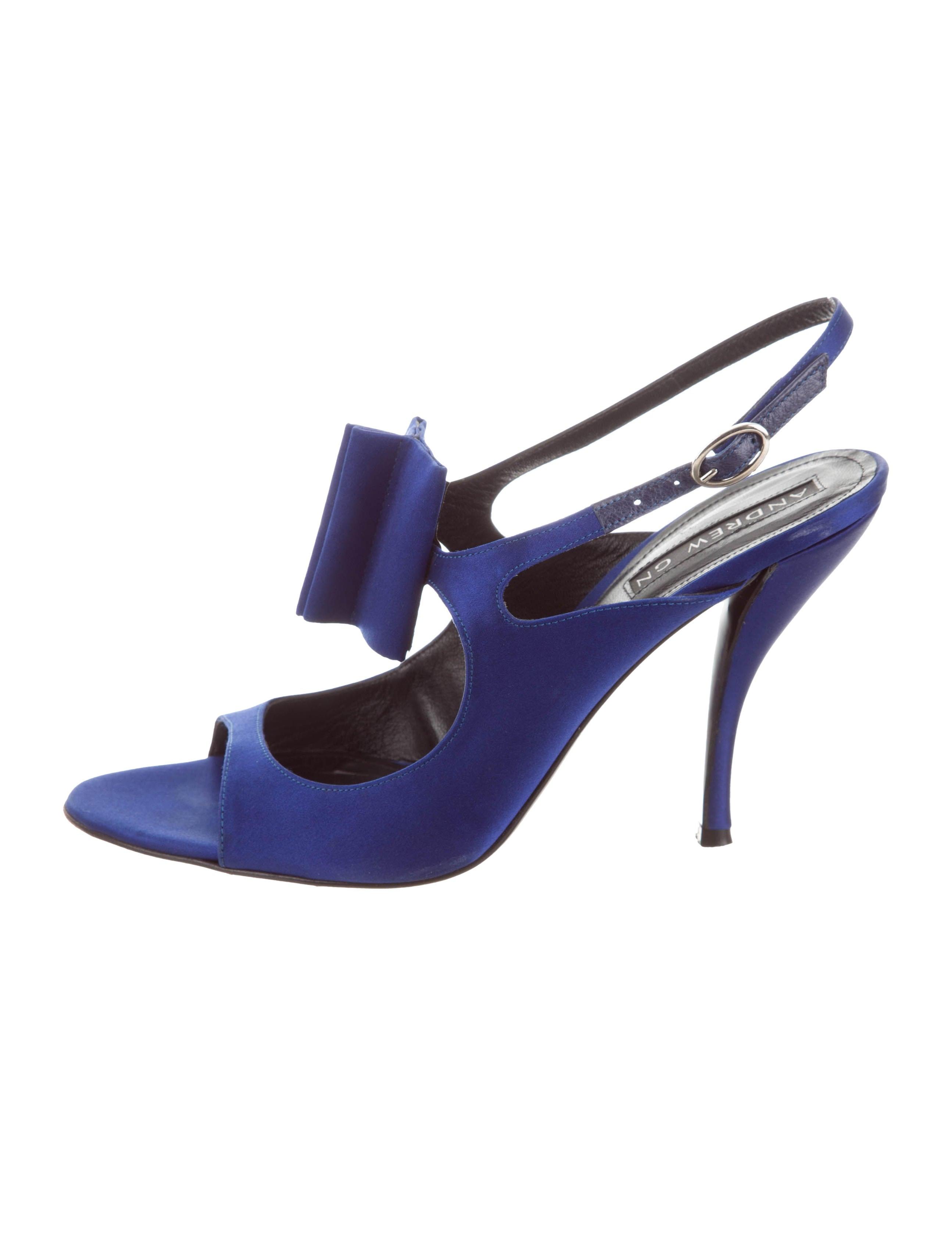 clearance shop for Andrew Gn Satin Bow Sandals finishline sale online cheap best sale for sale footlocker cheap sneakernews kH9bF8k