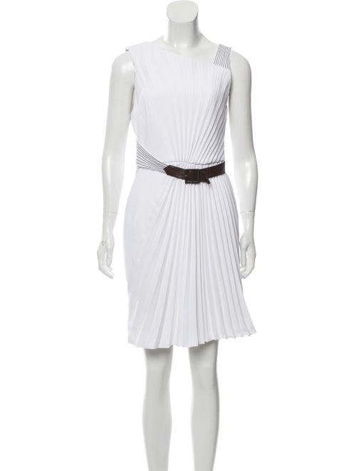 Andrew Gn Sleeveless Mini Dress White