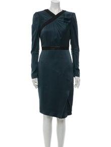 Andrew Gn V-Neck Knee-Length Dress