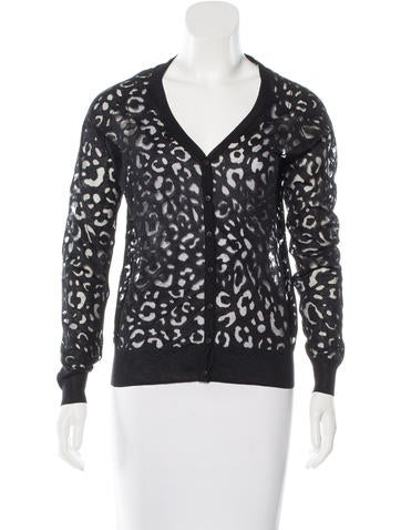 Sheer Leopard Cardigan w/ Tags