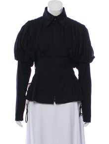 d200223d181e0 Anne Fontaine. Long Sleeve Lace-Up Top