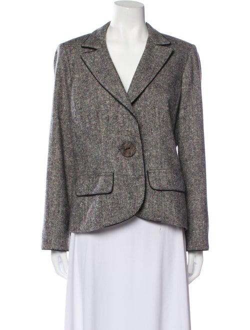 Anne Fontaine Tweed Pattern Blazer Grey