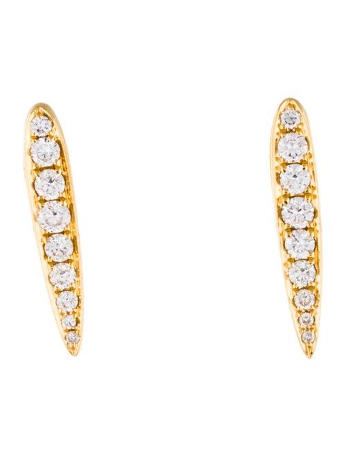 934c56181573b Anita Ko 18K Diamond Small Spear Earrings - Earrings - ANI20429 ...