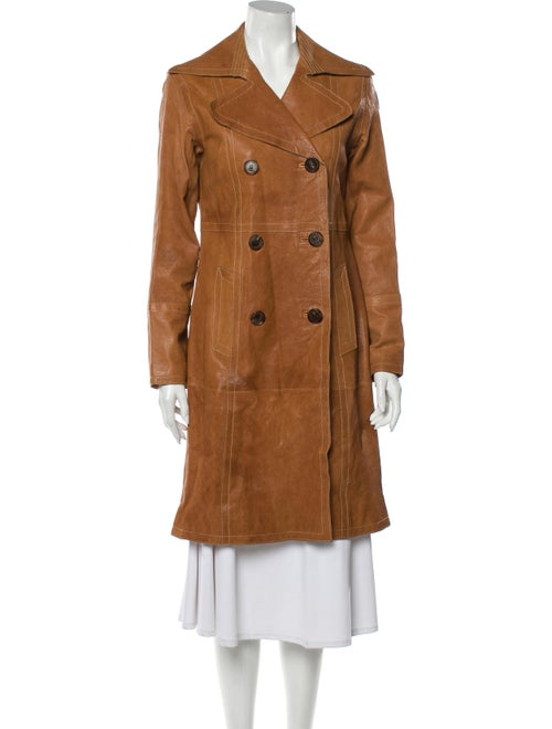 Andrew Marc Leather Trench Coat