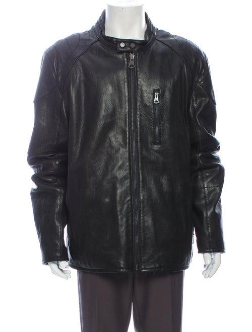 Andrew Marc Leather Jacket Black