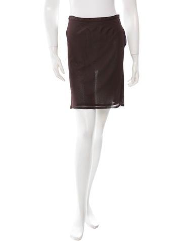 Ann Demeulemeester Brown A-Line Skirt None